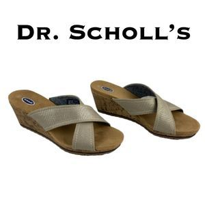 Dr. Scholl's Boardwalk Metallic Sandals